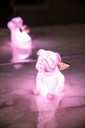 Pembe Melek Köpek 3d Led Işık