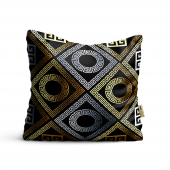 Salon Tekstili Etnik Desenli Yastık Kılıfı