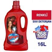 Bingo Renkli Sıvı Bakım Çamaşır Deterjanı 4 lt 4lü