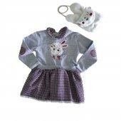 Kız Bebek 6 18 Ay Tavşanlı Çanta Elbise Takımı Kırmızı C71830