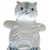 Erkek Kız Bebek Kedi Şekilli Alt Açma Minderi Beyaz C72507