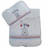 Erkek Kız Bebek Ayıcıklı Alt Açma Minderi Beyaz C70972