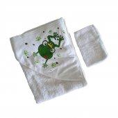 Kız-Erkek Bebek Kurbağa Havlu Kese Seti - C71952-2