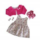 Kız Bebek 6 18 Ay Patikli Elbise Takımı Pembe C73481