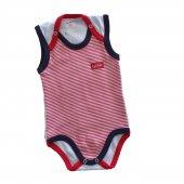 Kız Erkek Bebek Sıfır Kol 4 Yaş Çıtçıtlı Zıbın Kırmızı C60054 1