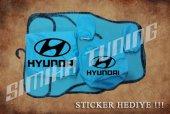 Hyundai Turkuaz Ön Arka Koltuk Direksiyon Seti Paspas Sticker
