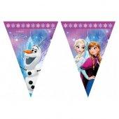 Frozen Kuzey Işıkları Plastik Üçgen Bayrak 2.3...