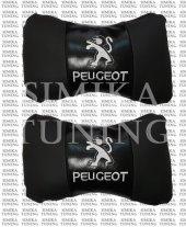 Peugeot Siyah Deri Boyun Yastığı 2 Li