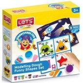 Lets Oyun Hamuru Eğlenceli Şekiller Seti (10 Parça) L9010