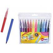Red Apple Fırça Uçlu Jumbo Keçeli Kalem 12 Renk