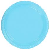 Yabidur Açık Mavi Plastik Tabak 22 Cm 25li