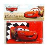 Cars Red Davetiye 6 Adet