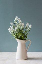 2li Beyaz Nemesia (Ömürsüz) Yapay Çiçek-2