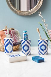 4lü Bohemian Mavi Banyo Seti