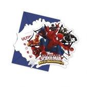 Spiderman Web Warriors Davetiye 6 Adet
