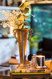 Antique Büyük Gümüş Vazo