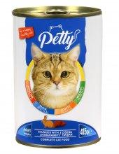 Petty 24 Adet Ciğer Tavşanlı Kedi Konservesi 24 Adet*415 Gr