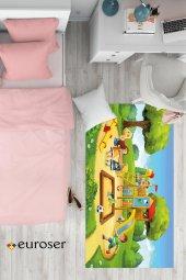 EUROSER Oyun Parkı ve Çocuklar2 Desenli Çocuk Halısı