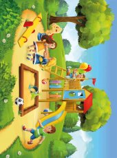 EUROSER Oyun Parkı ve Çocuklar2 Desenli Çocuk Halısı-2
