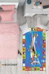 EUROSER Uçaklı Oyun Halısı Desenli Çocuk Halısı