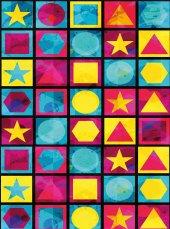 EUROSER Renkli Geometrik Şekiller Desenli Çocuk Halısı-2