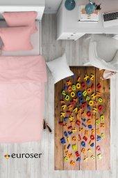 EUROSER Renkli Harfler Desenli Çocuk Halısı