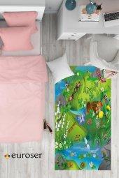 EUROSER Orman ve Böcekler Desenli Çocuk Halısı