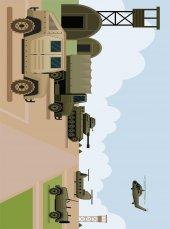 EUROSER Askeri Araçlar Desenli Çocuk Halısı-2