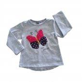 Kız Bebek Kelebek Modelli Sweat 1 3 Yaş Gri C73465