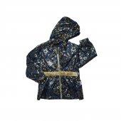 Kız Bebek Yıldız Baskılı Modelli Yağmurluk 1 3 Yaş Altın Sarısı C72087