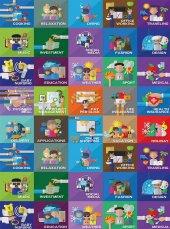 EUROSER Eğitici Oyun Halısı Desenli Çocuk Halısı-2