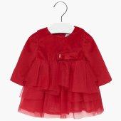 Mayoral Kışlık Kız Bebek Kadife Elbise Escarlata 2916