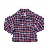 Kız Bebek Taş Süslemeli Ekose Gömlek 2 5 Yaş Yavruağzı C71102