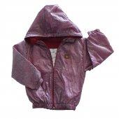 Erkek Bebek Armalı Kırçıllı Modelli Yağmurluk 1 3 Yaş Bordo C72734