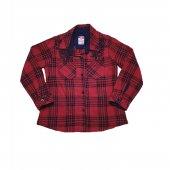 Kız Bebek Dantel Nakışlı Gömlek 2-5 Yaş Kırmızı - C73505
