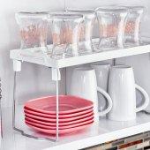 Banyo Mutfak Dolap İçi Pratik Raf Düzenleyici 14x30 Cm