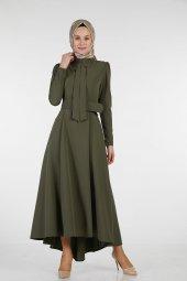 Sitare Önü Kravatlı Elbise 19Y2578-6
