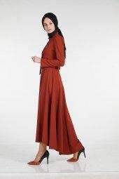 Sitare Önü Kravatlı Elbise 19Y2578-9