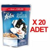 Purına Felix Sığır Etli Kedi Maması 100gr X 20...