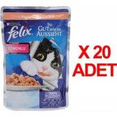 Purına Felix Somonlu Kedi Maması 100gr X 20 Adet