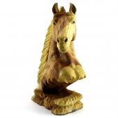 50cm Ahşap At Kafası Figürü, El Oyması, Dekor, Obje, Biblo
