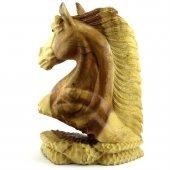 50cm Ahşap At Kafası Figürü, El Oyması, Dekor, Obje, Biblo-4