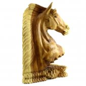 50cm Ahşap At Kafası Figürü, El Oyması, Dekor, Obje, Biblo-6