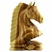 50cm Ahşap At Kafası Figürü, El Oyması, Dekor, Obje, Biblo-8