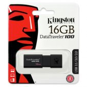 Kingston 16gb Usb3.0 Memory Dt100g3 16gb Siyah