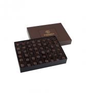 Single Maxi Bitter Çikolata Kaplı Fıstıklı Lokum Kahverengi