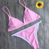 Angelsin Açık Pembe Bikini Takım-2