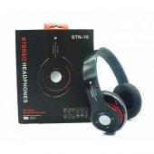 Stn16 Siyah Bluetooth Kulaklık Sd Kart Destekli Mp3 Fm Kulaklık