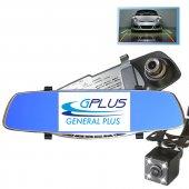 5 İnç Ips Ekran Türkçe Metal Dikiz Ayna Araç Kamerası Geri Görüş Kamerası Gp50hd