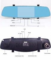 GP50HD 5 inç IPS Ekran Türkçe Metal Dikiz Ayna Araç Kamerası Geri Görüş Kamerası -2
